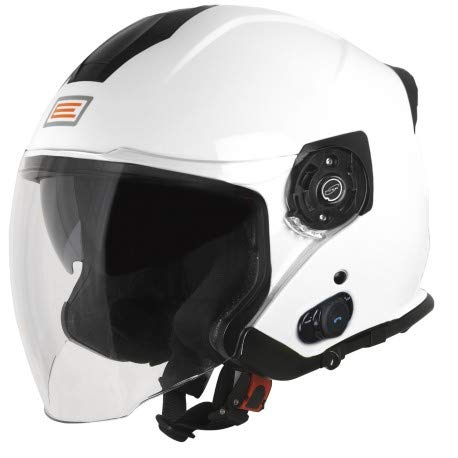 ORIGINE Casco Jet con Bluetooth Integrato Palio 2.0 (M, Solid White)