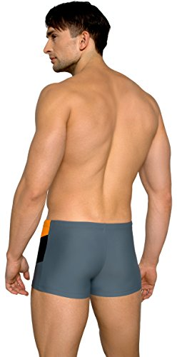 Lorin Hommes Caleçon de Bain LO211 Gris/Orange