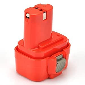ATC Batterie de remplacement pour Makita type 9120, 9122, 9134, 9135 des séries 192595-8, 192596-6, 192638-6, 193977-7, 638344-4-2/Ni-CD 2000mAh 9,6V