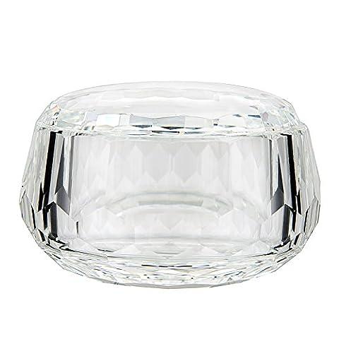 Donoucls Crystal Candy Bowl,Hand Cut Dessert Salad Bowls Clear 7.5x12cm/3x4.7
