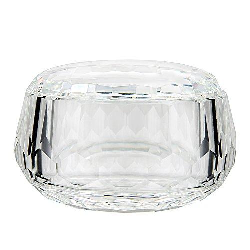 Donoucls Boîte à bijoux en verre à écrou de cristal / bol à bonbons, Cristal, Bowl With Cover, 7.5x12cm/3x4.7\