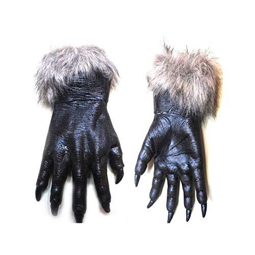 Newin Star 1 Stück Wolf Handschuhe Horrific Kostüm Zubehör für Halloween und Cosplay