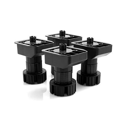 Design61Juego de 4Socket De Pie regulable stellfuss Cocina Soporte Pie para muebles...