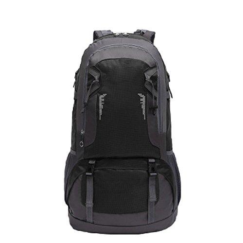 Im Freienbergsteigen Tasche Nylon Wasserdicht Mit Hohen Kapazität Reisen Multifunktions Sporttasche,Orange Black