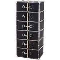 Comparador de precios Casa-Padrino luxury drawers cabinet in vintage suitcase Design Dark Grey Canvas with 6 drawers - dresser - Art Deco Art Nouveau Baroque suitcase cabinet - precios baratos