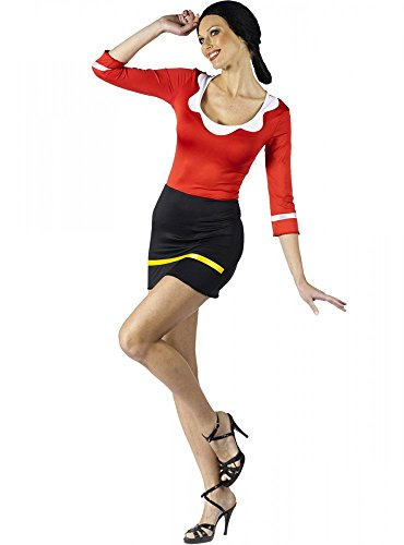 shoperama Damen-Kostüm Olivia Öl Freundin von Popeye Comic Kleid, ()