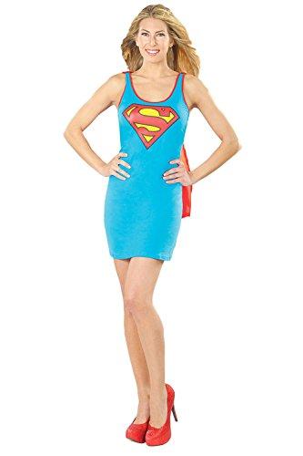 Damen Supergirl Rubies Kostüm Neue Kostüm Erwachsene Superheld Party Outfit - Supergirl, 40-42 (Superhelden-outfits Erwachsene Für)