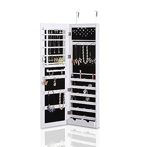 iKayaa Verrouillable Hanging Bijoux Cabinet Maquillage Armoire Porte / mur