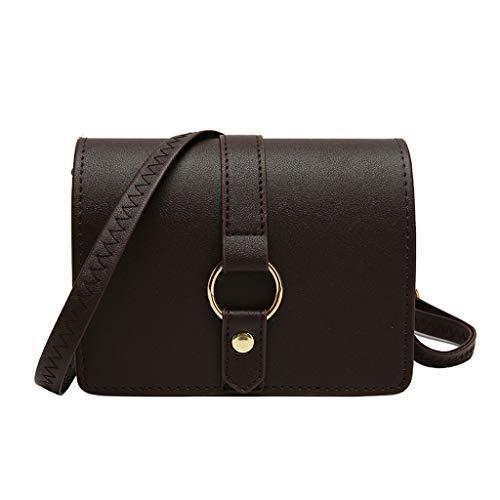 Fendi Schwarze Mini-bag (TIFIY Damen Rucksack Frauen Retro Pure Color Leder Umhängetaschen Messenger Bag Kette Crossbody Taschen Arbeits Täglich Bankett Elegant Tasche(Kaffee))