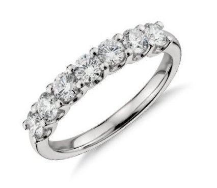 8f3bbd69e Luv Eclipse Luv Eclipse Wedding Band White Gold Diamond 0.75 Carat TW  Diamond