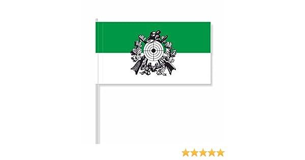 Flaggenfritze/® Papierfahnen Sch/ützenfest mit Emblem