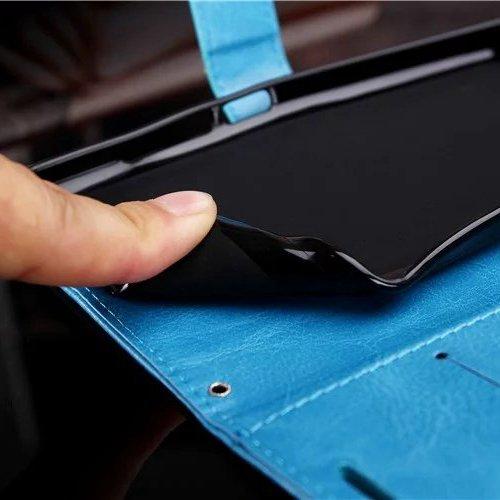 Wkae Case Cover Samsung S7edge Plus-Fall feste Folio magnetische Design Flip Brieftasche Stil Fall Farbmuster PU-Leder-Abdeckung Standup-Abdeckungsfall für Samsung S7edge plus ( Color : Black , Size : Black