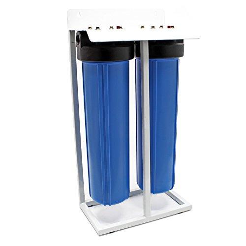 """Naturewater NW-BRL02-LS2 Doppelfilter 32,89 mm 1\"""" mit PP Gewebekartusche Aktivkohlefilter"""