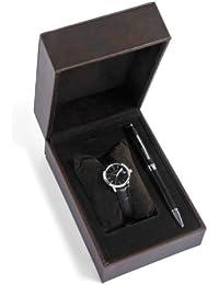 Cross  CR4001 - Reloj de cuarzo para mujer, con correa de cuero, color negro