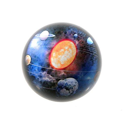 el Kristall Ball Bemerkenswerte Sternenhimmel Design Briefbeschwerer Figuren Dekoration Craft für Kinder oder Weihnachts Geschenk, solar system ()