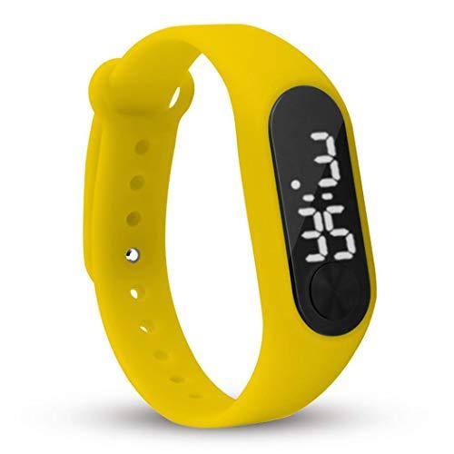 Cooshional Reloj Pulsera Inteligente Cuenta Pasos Calorías, Smartwatch Digital LCD Pantalla para Hombre y Mujer
