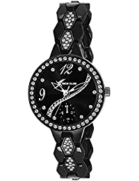 Rich Club RC-2272 Full Black Diamond Glass Analog Watch For Girls And Women …