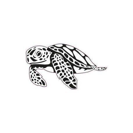 Schildkröte, Aufkleber, Orange, 8 cm