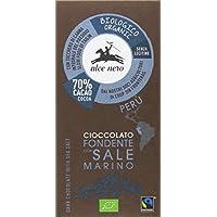 Alce Nero - Tableta de chocolate negro con sal marina BIO, 50 gr