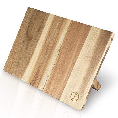 J. Frederic Messerblock magnetisch ohne Messer / Messerbrett magnetisch / magnetischer Messerblock aus Holz (Akazie) / Magnet Messerhalter