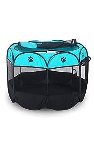Zmal Portable étanche pour animal domestique Tente de camping, respirant lavable pour animal domestique chenil Chiens et chats pliable pliable en tissu Intérieur et extérieur Lit parc Caisse Cage Niche Tente