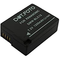 Dot.Foto Batterie de qualité pour Panasonic DMW-BLC12, DMW-BLC12E - 7,2v / 1200mAh - garantie de 2 ans - Entièrement 100% compatibles - Panasonic Lumix DMC-G5, DMC-G6, DMC-G7, DMC-G70, DMC-G80, DMC-G81, DMC-G85, DMC-GH2, DMC-GX8