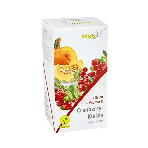 BjökoVit Cranberry + Kürbis Kapseln, vegan, 60 Stück
