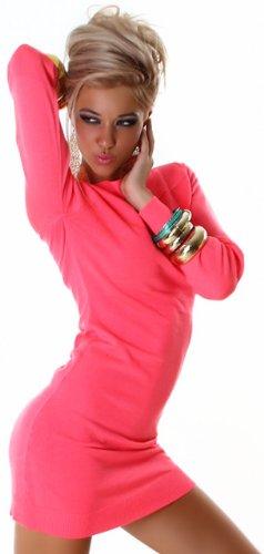 JELA London -  Vestito  - Basic - Maniche lunghe  - Donna Rosa