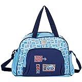 Mee Mee Multipurpose Diaper Bag (With Changing Mat, Multi Blue)