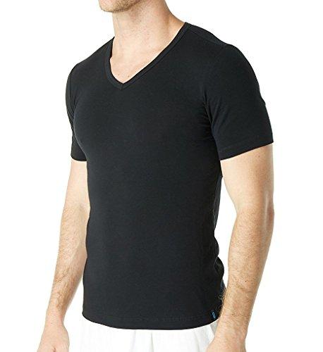 Schiesser Herren Unterhemd Shirt 1/2 Arm Schwarz