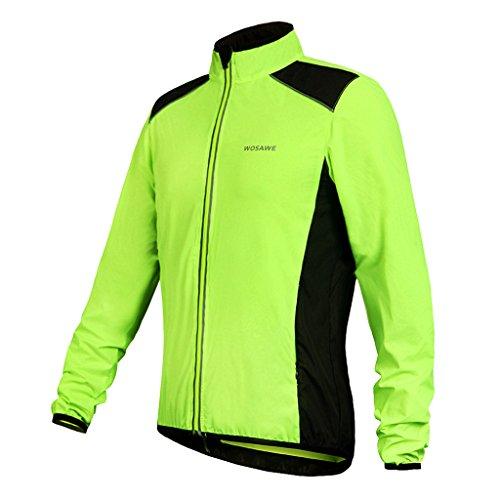 Sharplace Unisex Fahrrad MTB Jacke Sportbekleidung Winddicht Trikot Langarm-Rad Jersey - M