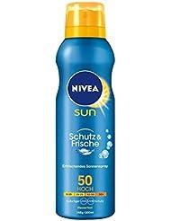 NIVEA SUN Transparentes Sonnenspray, Lichtschutzfaktor 50, 200 ml Spraydose, Schutz & Frische