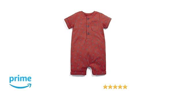Mamas /& Papas Baby Boys Chevron Print Romper
