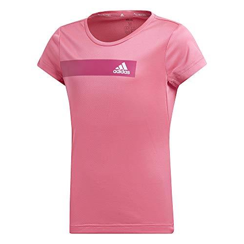 adidas Mädchen Training Cool T-Shirt, Semi Solar Pink/White, 128