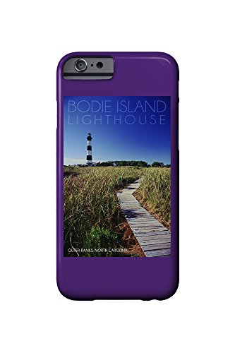 Bodie Island Lighthouse on Clear Day - Outer Banks, North Carolina (iPhone 6 Cell Phone Case, Slim Barely There)
