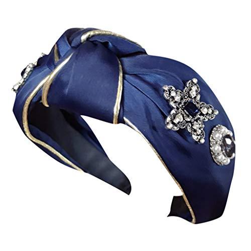 irnbänder für Frauen Vintage Blume Gedruckt Criss Cross Verknotet Elastisches Haarband Stretchy Head Wrap Haarschmuck (F, Uniform code) ()