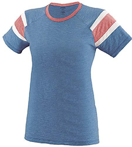 Augusta Sportswear Women'S Fanatic Tee L Royal/Red/White