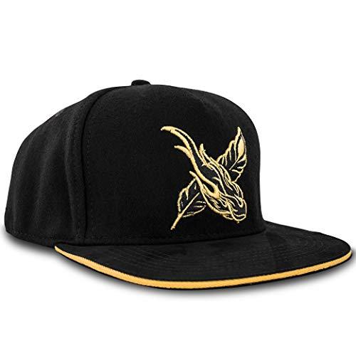Blackskies Hero Snapback Cap Damen Herren Baseball Mütze Kappe Schwarz Logo Print Style
