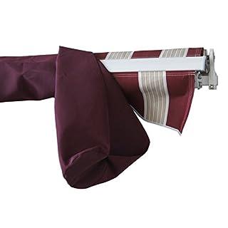 Aleko AWPSC10X8BD37 Protective Awning Cover 10 x 8 Feet Burgundy