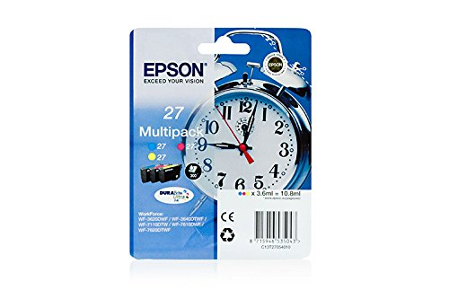 Standard 27 (Epson Ink C/M/Y, 9ml No. 27, blister, C13T27054010 (No. 27, blister Standard capacity))