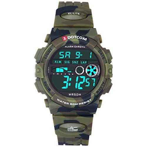 Socico Niños Digital Relojes para Niños Deportes-5 ATM Reloj Deportivo Impermeable al Aire Libre con Alarma Cronómetro,Relojes de Pulsera Electrónicos para Niños. (Camuflaje)