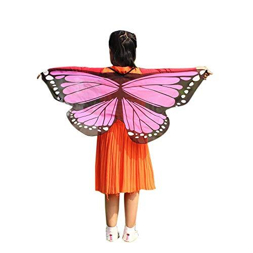 Jungen Kostüm Schmetterling - Vectry Halloween Cosplay Kind Kinder Jungen Mädchen Neuheit Feenhafte Nymphe Pixie Karneval Zubehör Weihnachten Kostüm Zusatz, Gedruckt Schmetterlings Flügel Butterfly Cape Schal Wrap Anzug für 3-13N