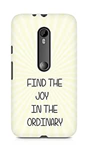 AMEZ find the joy in the ordinary Back Cover For Motorola Moto G3