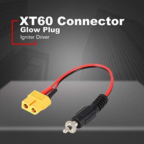Leoboone XT60 Mujer para Bujía de Encendedor del Controlador de Crocodile Clips de Control Remoto del Cargador del Adaptador del convertidor de Cable de alambres