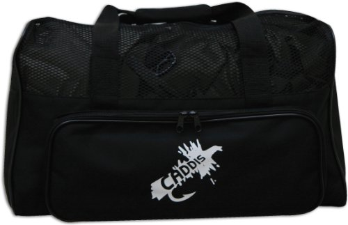 Caddis Deluxe Black Nylon Canvas Wader Bag Mit Mesh-Dry Top, Wickelauflage und Trageriemen -