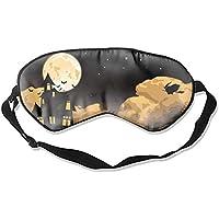 Schlafmaske, Halloween-Fledermaus-Nacht, Maulbeerseide, Schlafmaske, Augenmaske zum Schlafen preisvergleich bei billige-tabletten.eu