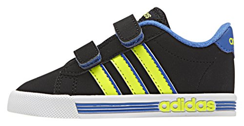 adidas Daily Team Inf, Chaussures Mixte Bébé Noir / jaune / bleu (noir essentiel / jaune solaire / bleu)