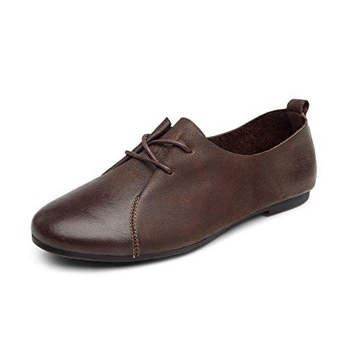 Chaussures vintage femmes au printemps/ ronds bandeau chaussures/Confort chaussures plates à la main A