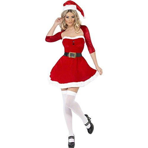 Sexy Weihnachtsfrau Damenkostüm Weihnachtskostüm Damen M 40/42 Weihnachtskleid -