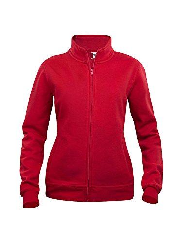 Clique donna basic cardigan 280 gr. Rosso